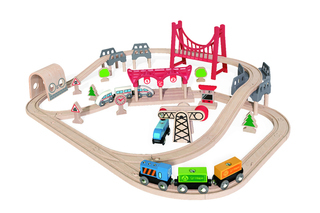 Hape Double Loop Railway Set - E3712