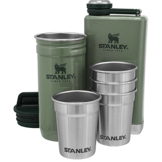 Stanley Adventure Steel Shots + Flask Gift Set - Green - 10-01883-037
