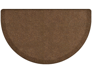 WellnessMats Semi-Circle Anti-Fatigue Mat - Granite Collection - Copper - ST3622GC