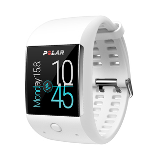 Android Wear GPS Sport Watch with HR Monitor - White - M600-WHT