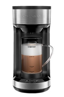 Chefman Froth N' Brew Coffee Maker plus Integrated Frother- RJ14-SFB-CA