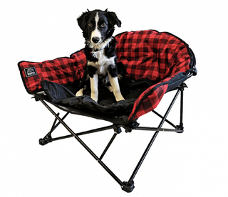 Kuma Lazy Bear Dog bed- Red Plaid - 844-KM-DG-RPG