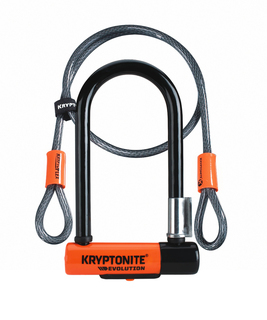 Kryptonite Evolution U-Lock Mini 7 w/4ft Flex Cable - 002079