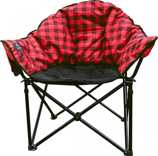 Kuma Heated Lazy Bear Chair - Red Plaid- 846-KM-LBHCH-RB