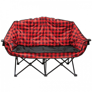 Kuma Bear Buddy Double Chair - Red Plaid - 490-KM-BBDC-RB